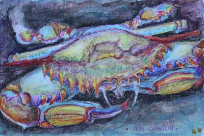 Blue Crab Drawing - Chesapeake Treasure No 1 by Petra Bernstein