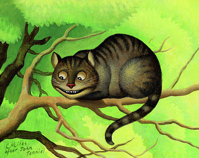 Wall Art - Painting - Cheshire Cat by Chris Miles