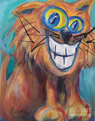 Cheshire Cat Painting - Cheshire Cat by Robin Wiesneth
