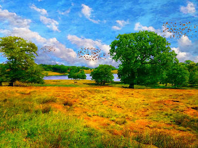 Digital Art - Cheshire Pastoral 2 by Glenn Mc Carthy