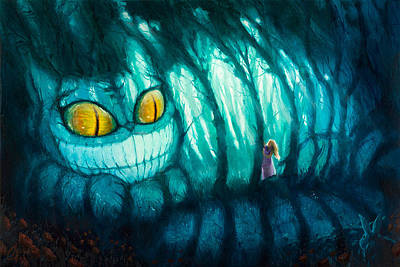 Alice In Wonderland Artist Painting - Cheshire Woods by Christopher Clark