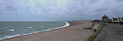 Photograph - Chesil Beach November 2013 by Anne Kotan
