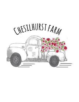 Drawing - Chesilhurst Farm by Kim Kent