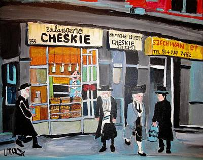 Painting - Cheskie Haimishe Bakery Bernard by Michael Litvack
