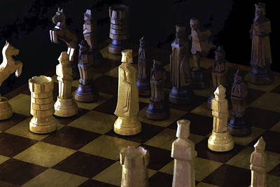 Photograph - Chess Board by Ron Grafe