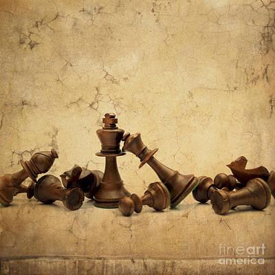 Chess Game Art Print by Bernard Jaubert