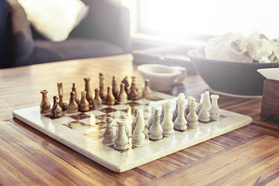 Marble Chess Boards Photograph - Chess Game by Dutourdumonde Photography