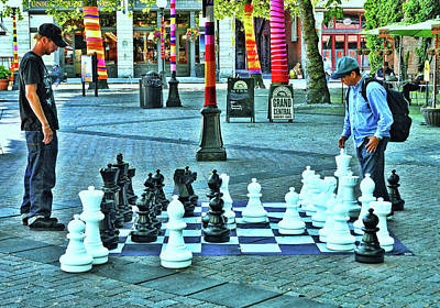 Photograph - Chess Game On A Large Scale by Allen Beatty
