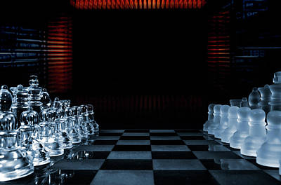 Mother Board Photograph - Chess Game Performed By Artificial Intelligence by Christian Lagereek