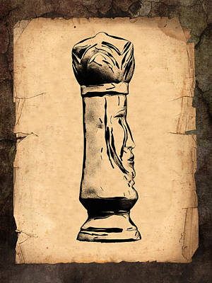 Chess King Art Print by Tom Mc Nemar