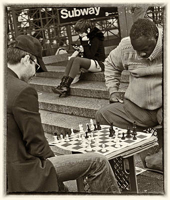Photograph - Chess Lower Manhattan by Steve Archbold