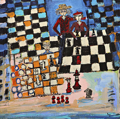 Chess Art Print by Maggis Art