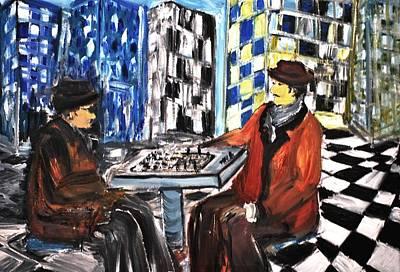 Chess Mania Art Print by Evelina Popilian