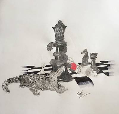 Chess Mate  Art Print by Astrid Owens