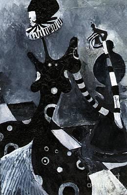 Painting - Chess by Maya Manolova