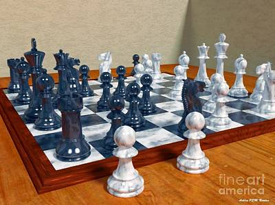 Chess Pieces Original by Ashley Nowlan