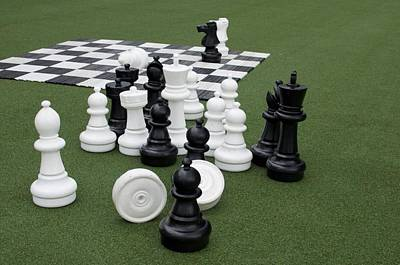 Photograph - Chess Pieces by Caroline Stella
