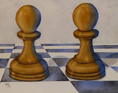 Painting - Chess Pieces by Kelly Mills