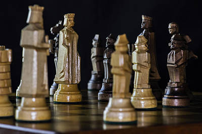Photograph - Chess Pieces by Ron Grafe