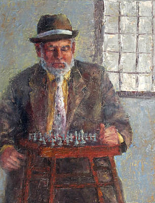 Painting - Chess Player Mr. Mietek by Jill Musser