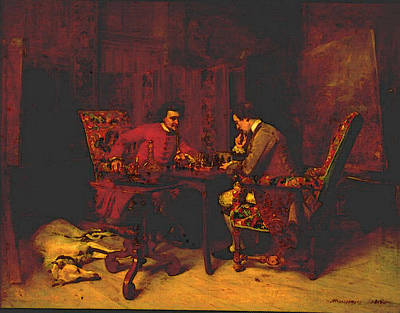 Chess Player Digital Art - Chess Players by Jean Louis Ernest Meissonier