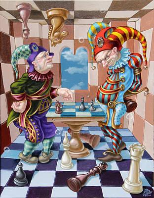 Chess Players Art Print
