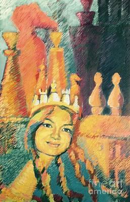Chess Queen Original by Nelya Pinchuk