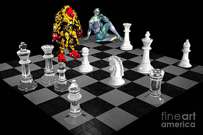 Photograph - Futuristic Chess Series 02 by Carlos Diaz
