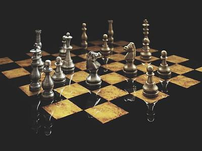 Photograph - Chess The Art Game by Sheila Mcdonald