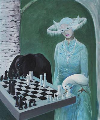 Chess - The Queen Waits Original by Tone Aanderaa