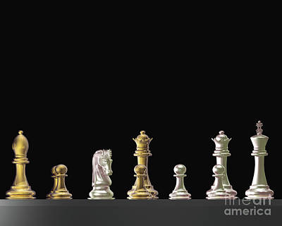 Chess Knight Photograph - Chess - Us And Them by Lori Lejeune