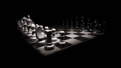 Chess War Art Print