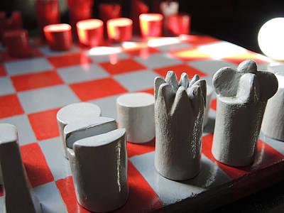 Chessman Backlight Art Print by Guido Strambio