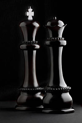 Board Game Photograph - Chessmen I by Tom Mc Nemar