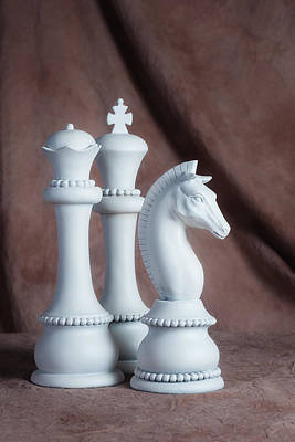 Board Game Photograph - Chessmen Iv by Tom Mc Nemar