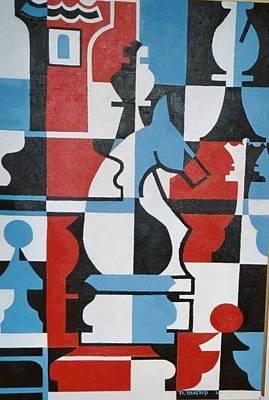 Chessmen Original by Nicholas Martori