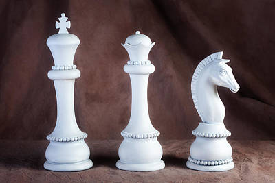 Board Game Photograph - Chessmen V by Tom Mc Nemar