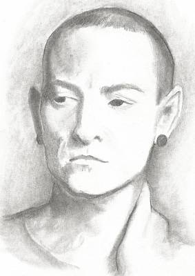 Chester Bennington Drawing - Chester by Amber Stanford