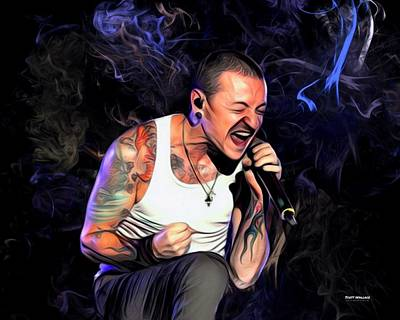 Stone Temple Pilots Wall Art - Digital Art - Chester Bennington From Linkin Park  by Scott Wallace Digital Designs