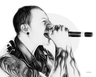 Stone Temple Pilots Wall Art - Digital Art - Chester Bennington Illustration  by Scott Wallace Digital Designs