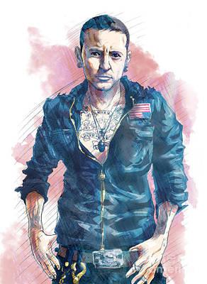 Chester Bennington Drawing - Chester Bennington Of Linkin Park by Tuan HollaBack