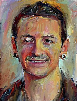 Chester Bennington Digital Art - Chester Bennington Tribute 2017 Portrait by Yury Malkov