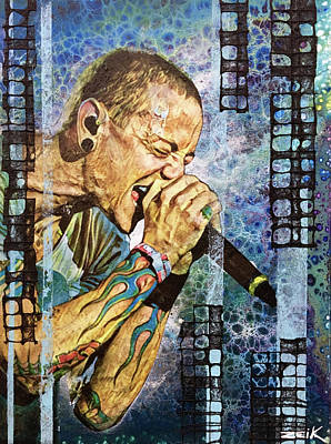 Chester Bennington Painting - Chester by Bobby Zeik