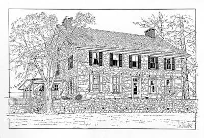 Drawing - Chester County Colonial by Ira Shander