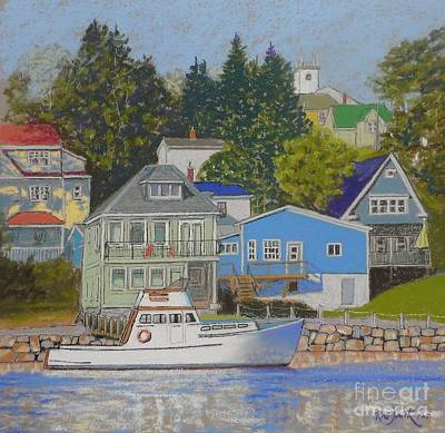 Pastel - Chester Front Harbour  by Rae  Smith PAC