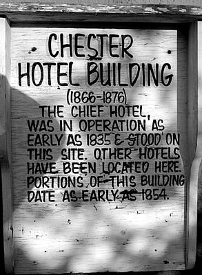 Photograph - Chester Hotel Building 1 by Joseph C Hinson Photography