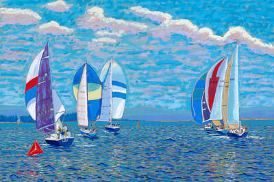 Chester Race Week 2009 Art Print by Rae  Smith PSC