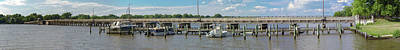 Photograph - Chester River Bridge - Pano by Brian Wallace