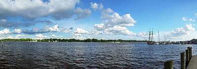 Photograph - Chester River Pano - Bridge And Sultana by Brian Wallace