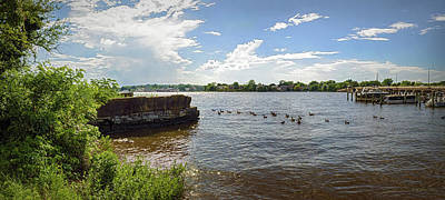 Photograph - Chester River Pano - Chestertown Md by Brian Wallace